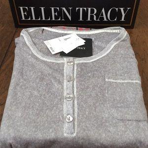 Ellen Tracy 2Pc L/S Henley PJs